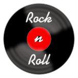 Rock n Roll Retro Record Invitations