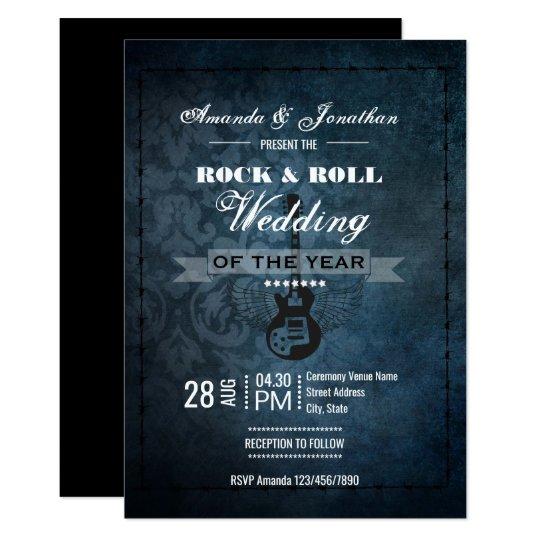 Rolled Wedding Invitations: Rock N' Roll Retro Vintage Wedding Invitation