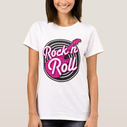 Rock N Roll rockabilly record design T-Shirt