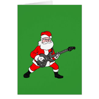 Rock N Roll Santa Claus Card
