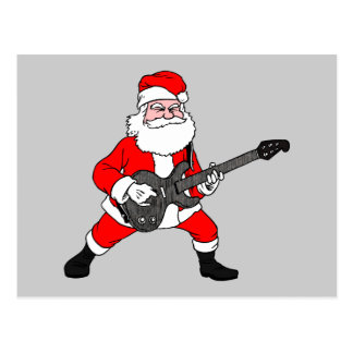 Rock N Roll Santa Claus Postcard