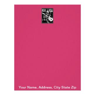 Rock N Roll Skeleton, Your Name, Address, City ... Letterhead