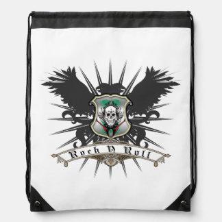 Rock n Roll Skull Guitars Music Drawstring Bag
