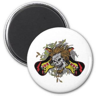 Rock n Roll Skull Magnet