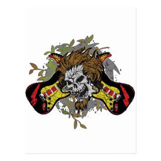 Rock n Roll Skull Postcard
