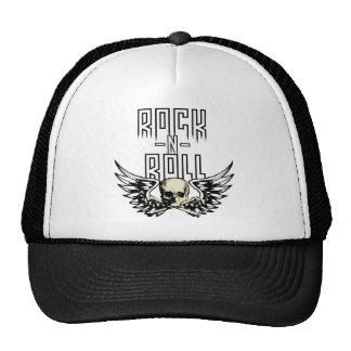 Rock n Roll Skull With Wings Hat