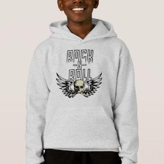 Rock n Roll Skull With Wings Hoodie
