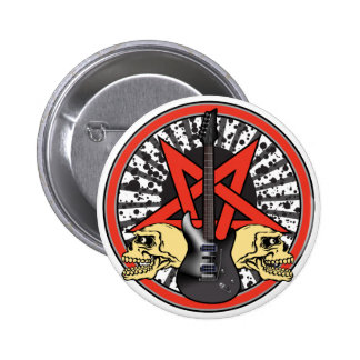 Rock n Roll Star 2 Inch Round Button