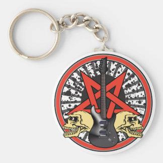 Rock n Roll Star Keychain