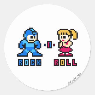 Rock-n-Roll Round Stickers