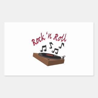 Rock n Roll Rectangular Sticker