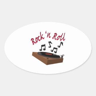 Rock n Roll Oval Sticker