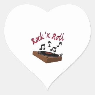 Rock n Roll Heart Sticker