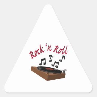 Rock n Roll Triangle Sticker