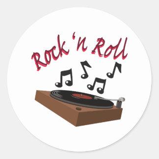 Rock n Roll Round Sticker