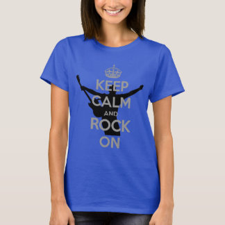 Rock n Roll Theme Keep Calm and Rock On T-Shirt