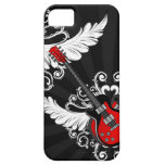 Rock n Roll Vintage Winged Guitars iPhone5 case iPhone 5 Cases