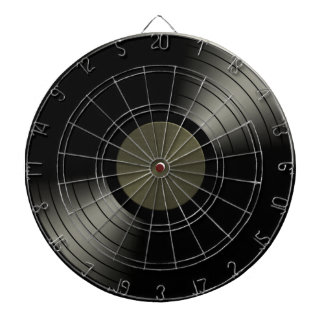 Rock n Roll Vinyl Record Album Dartboard With Darts