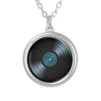 Rock n Roll Vinyl Record Album in Blue Custom Necklace