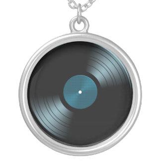 Rock n Roll Vinyl Record Album in Blue Necklace