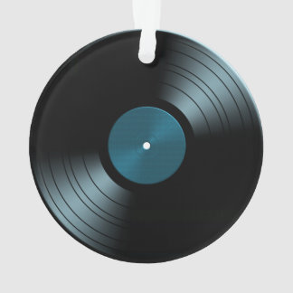 Rock n Roll Vinyl Record Album in Blue Ornament