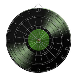 Rock n Roll Vinyl Record Album in Green Dart Board