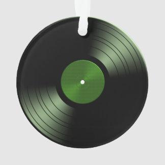 Rock n Roll Vinyl Record Album in Green Ornament