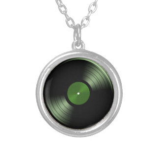 Rock n Roll Vinyl Record Album in Green Pendants