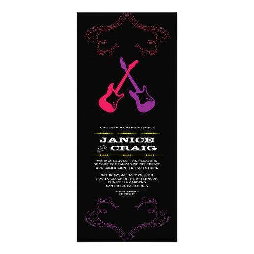 Rock 'n' Roll Wedding Guitars (Multicolor) 4x9.25 Paper