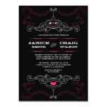 Rock n Roll Wedding Poster (Black / Pink) 5x7 Paper Invitation Card