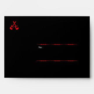 Rock 'n' Roll Wedding Poster (Black / Red) Envelopes