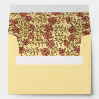 Rock 'n' Roll Wedding (Roses) Envelope