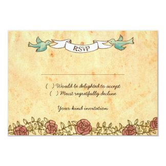 Rock 'n' Roll Wedding (Roses) RSVP w/ envelopes Card