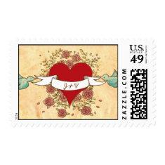 Rock 'n' Roll Wedding (Roses) Stamp