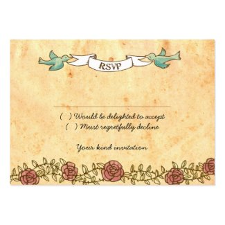 Rock 'n' Roll Wedding RSVP Card (Roses) profilecard
