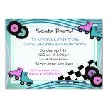 Rock N' Roller Skate 5x7 Paper Invitation Card