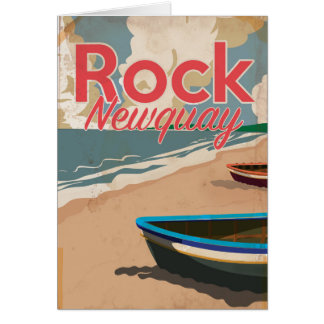 Rock, Newquay Vintage locomotive Travel Poster Card