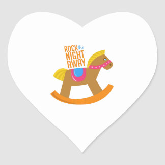 Rock Night Away Heart Stickers
