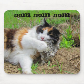 Rock Nom Cat Food Mouse Pad