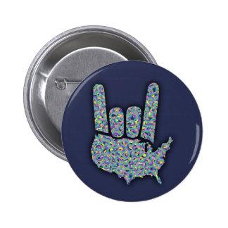 Rock North America Button