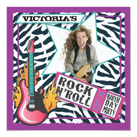 Rock NRoll Rock Star Birthday Party Invitations – Rockstar Party Invites