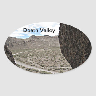 Rock of Ages Death Valley Photograph Oval Sticker