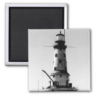 Rock of Ages Lighthouse 2 Inch Square Magnet