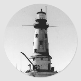 Rock of Ages Lighthouse Classic Round Sticker