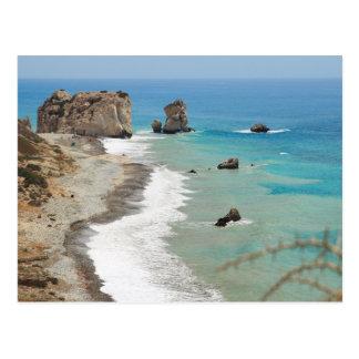 Rock Of Aphrodite, Cyprus Postcard