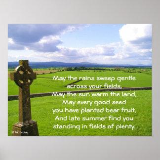 Rock of Cashel Cross Print & Poster