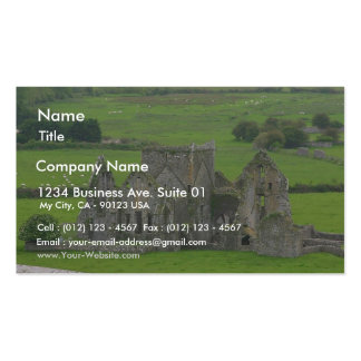 Rock Of Cashel Ruins Churches Hore Abbey Double-Sided Standard Business Cards (Pack Of 100)
