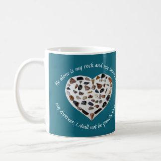 Rock of My Salvation Bible Verse Teal Mug