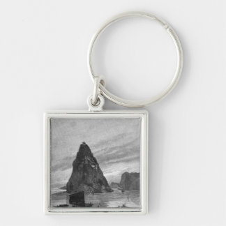 Rock of the Little Orphan on the Yangtze River Keychain