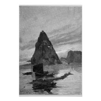 Rock of the Little Orphan on the Yangtze River Poster